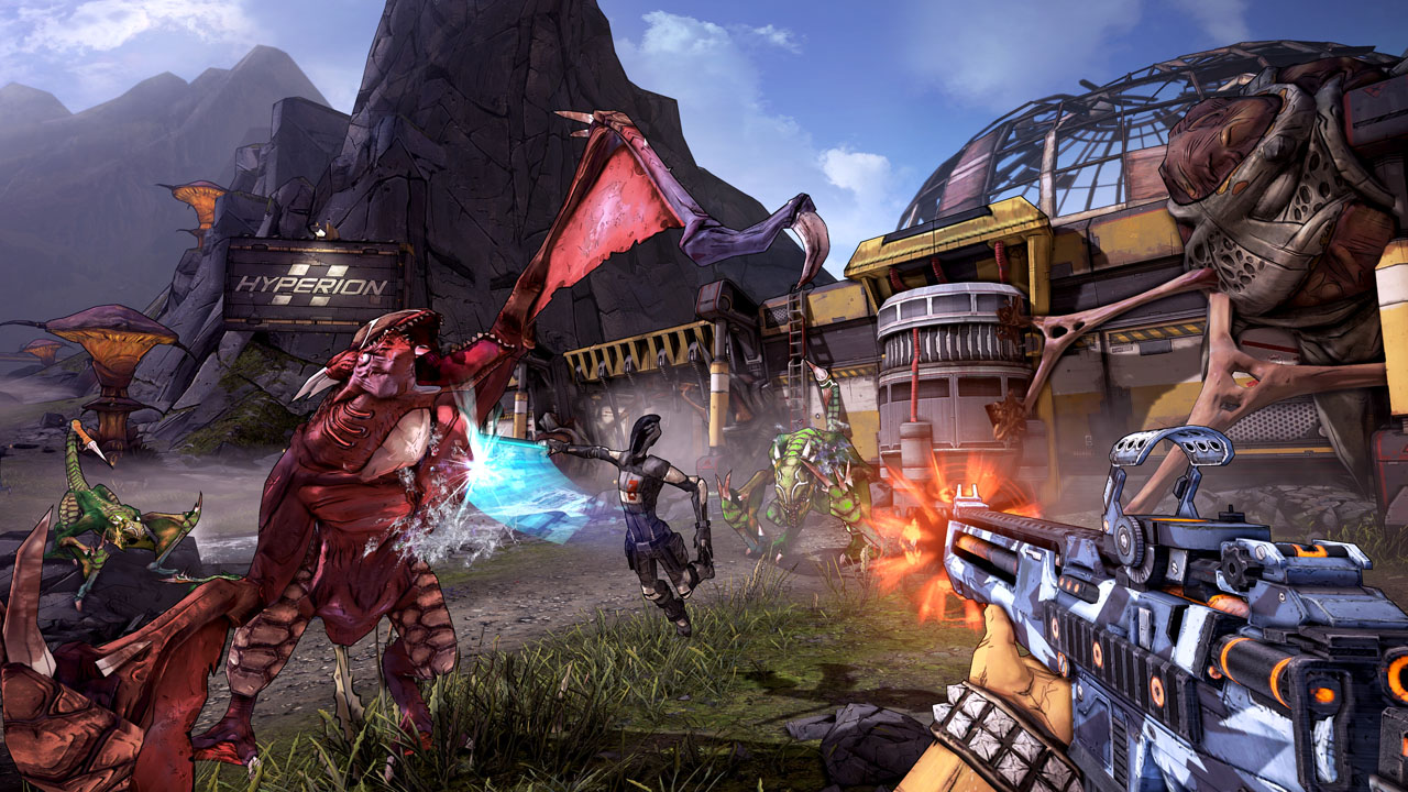 <em>Borderlands 2</em>'s planet of Pandora is a colorful and dangerous place.