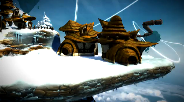 A created landscape in <em>Project Spark</em>.