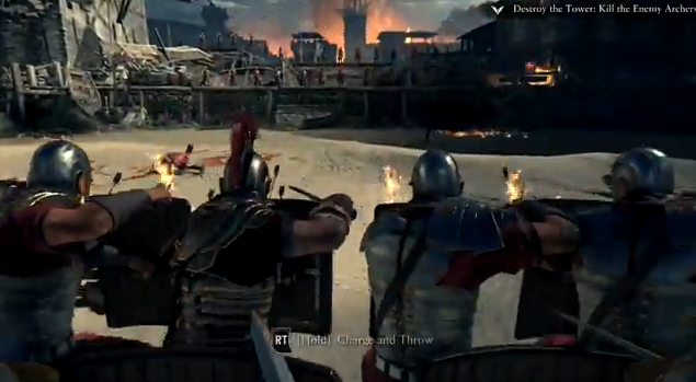 A phalanx in <em>Ryse: Son of Rome</em>