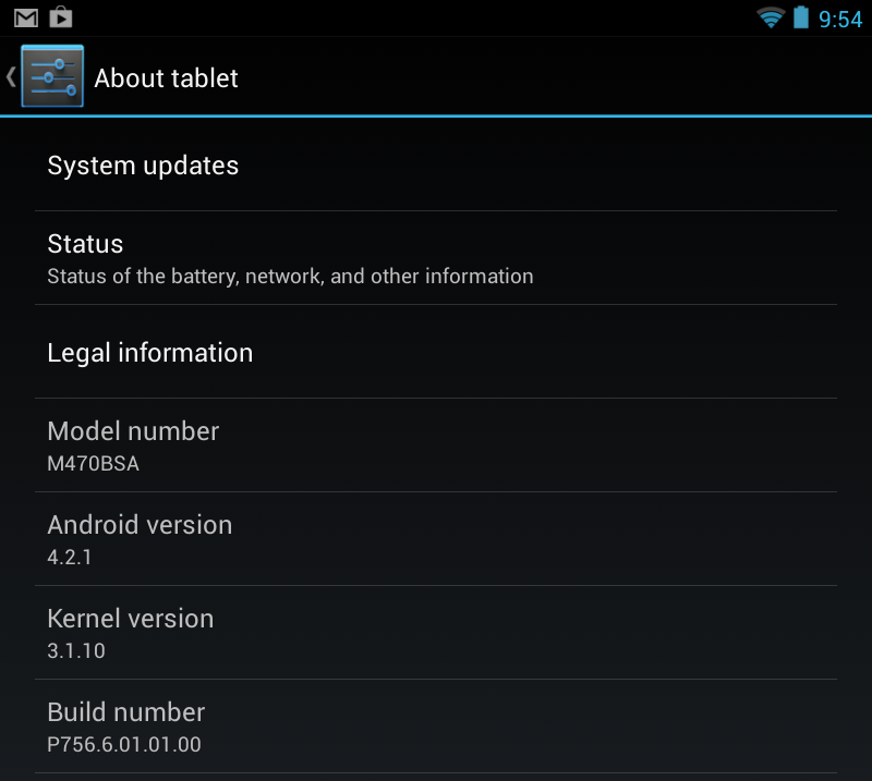 The Sero runs Android 4.2.1, just a bit out-of-date compared to Android 4.2.2.