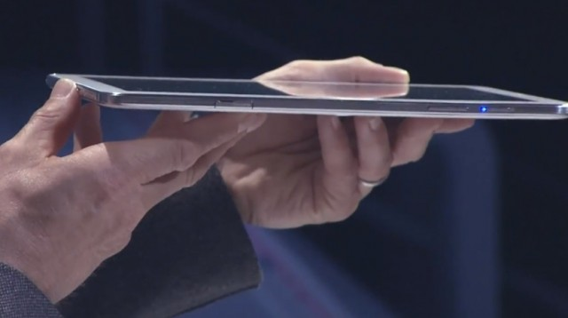 The Ativ Tab 3 in profile