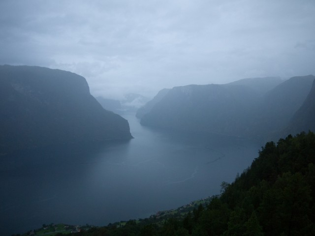 Aurlandsfjord, Norway, where seiches were observed.