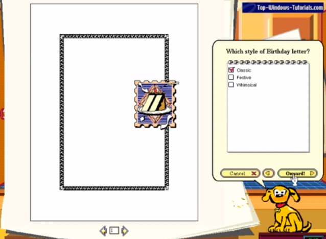 "The Windows 95 ""Microsoft Bob"" interface. Twenty years ago, not only did we write birthday letters, but they were so easy, a cartoon dog could tell us how to do it."