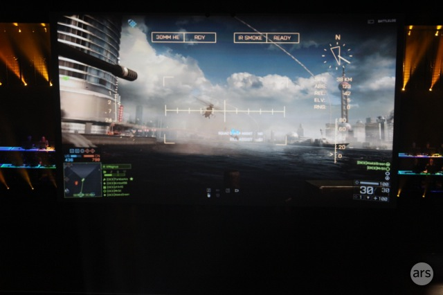 <em>Battlefield 4</em> increases the scale of its play—and damage—which now includes falling tanks and buildings.