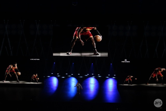 "EA demonstrated its ""BounceTech"" that will change how NBA players dribble in its basketball game."