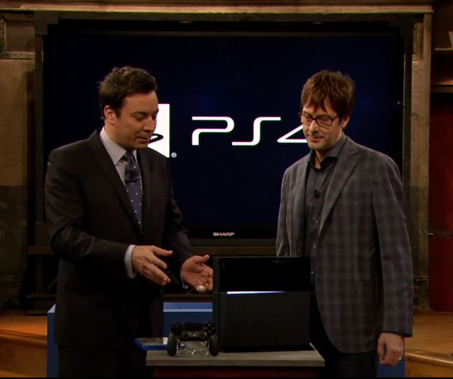 "Fallon: ""Behold! The only used game player on the market!"""