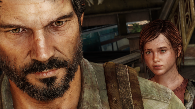 Don't let Joel's cold, haunted expression fool you. He'd do anything for that girl.