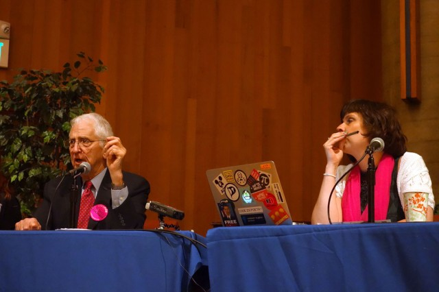 Daniel Ellsberg and Birgitta Jónsdottír spoke in Berkeley on Tuesday evening.