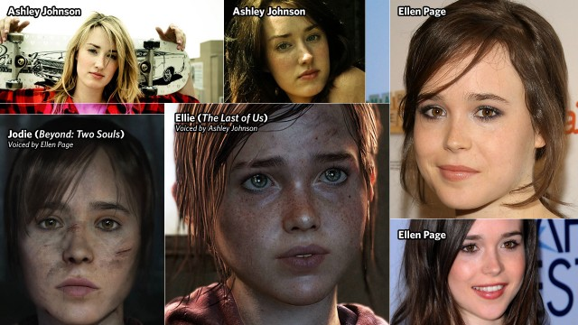 Ashley Johnson looks less like Ellen Page than Johnson's Ellie looks like Page's Jodie.
