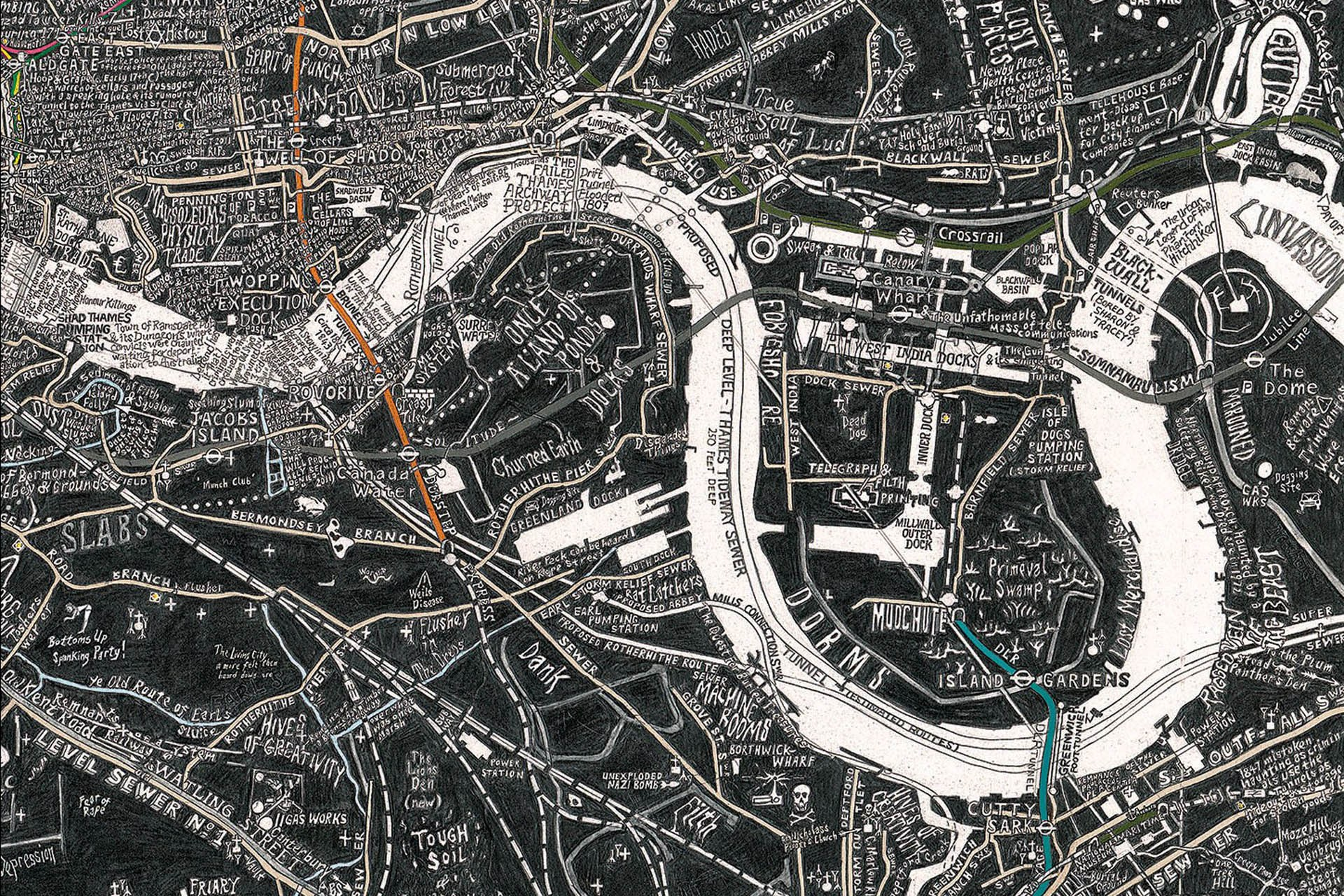 Exhibition Showcases Artists Highly Intricate Hand Drawn Maps
