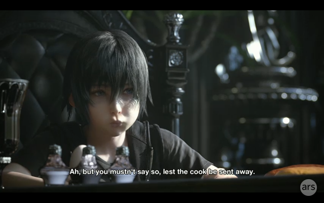 A confusing scene in the <em>Final Fantasy XV</em> trailer.