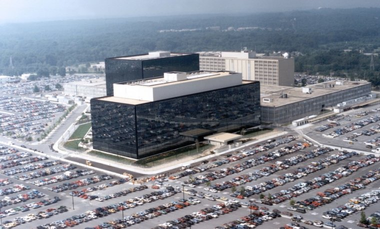An aerial view of the NSA.