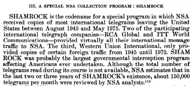The final report on SHAMROCK.