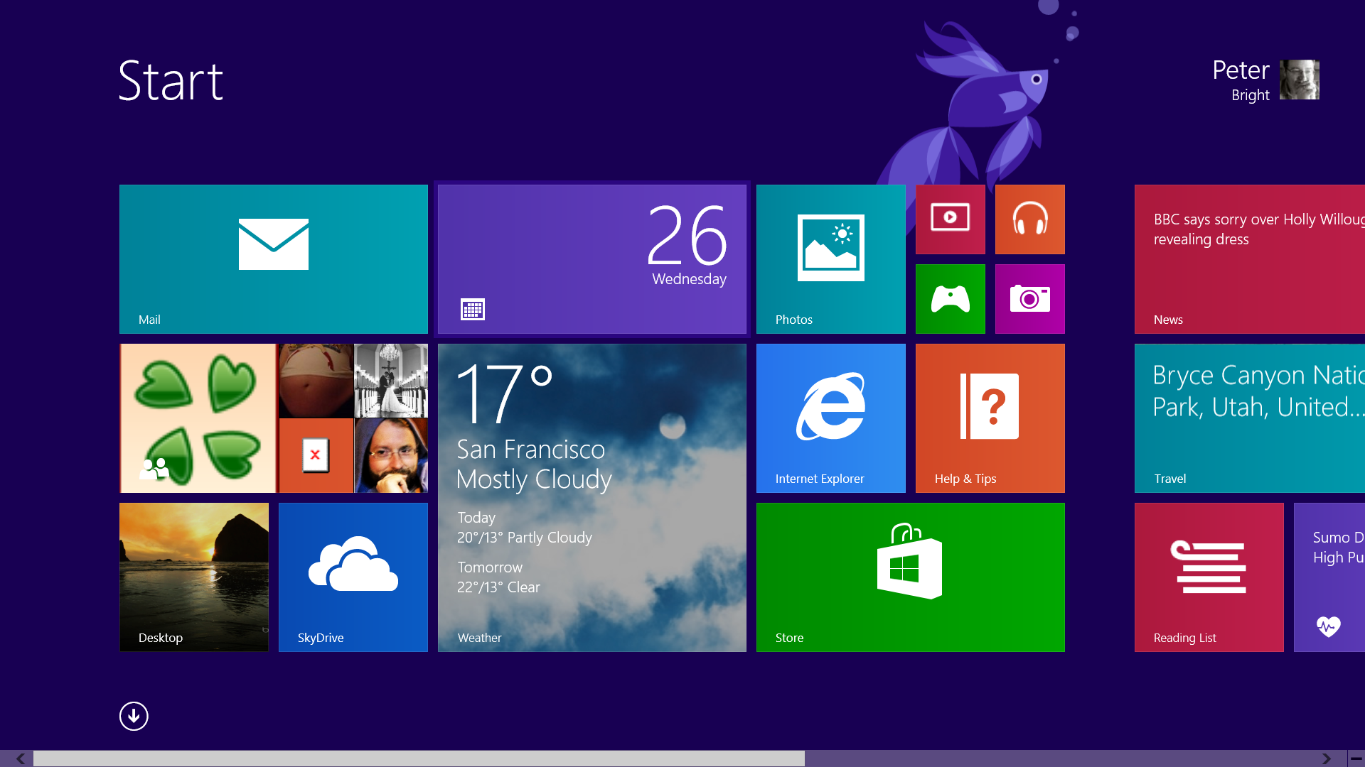 Hands on with windows 8 1 preview windows 8 done right for Tile layout app