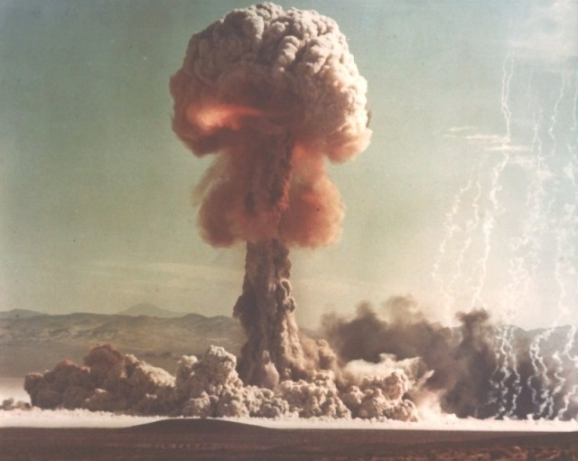 A 15 kiloton explosion at the US' Nevada test site.