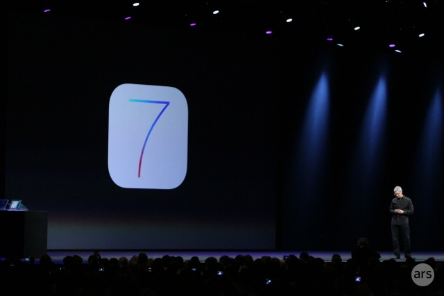 Apple announces flatter, sleeker iOS 7