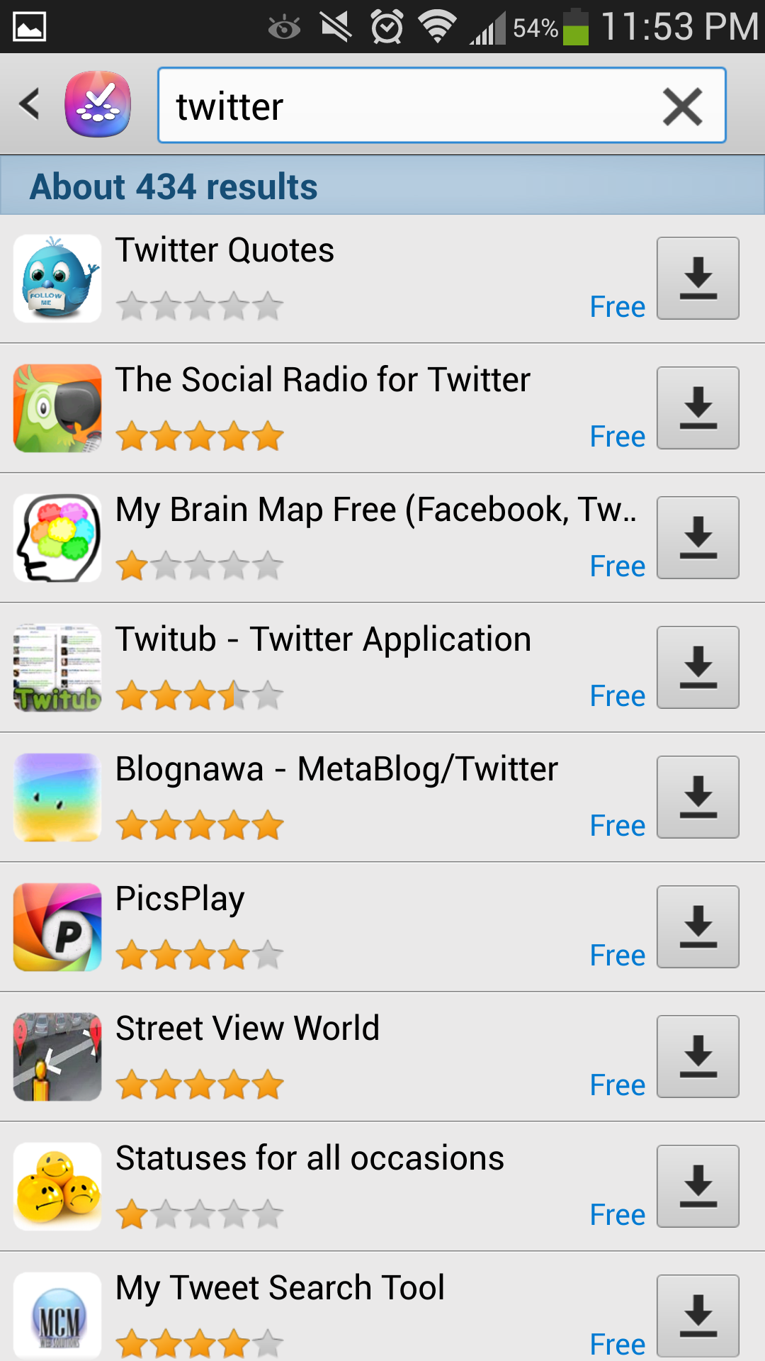 Samsung includes its own app store with TouchWiz.