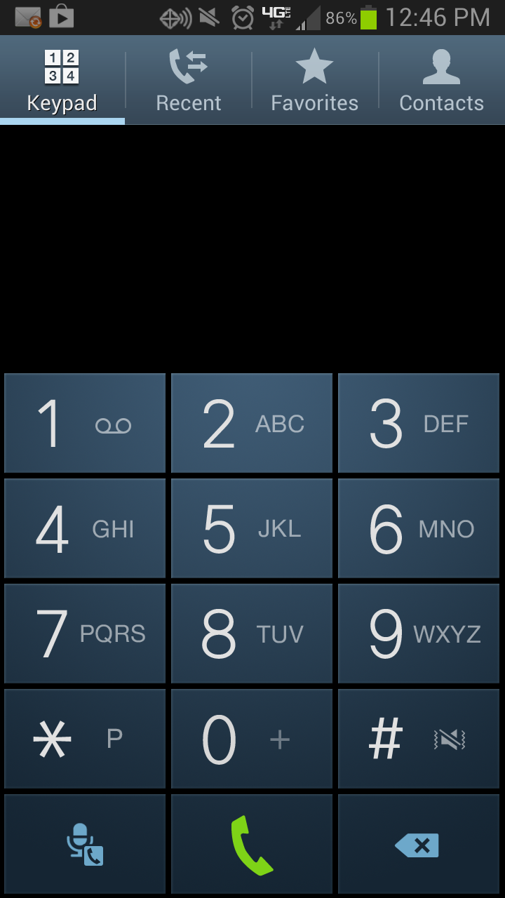 stock android dialer on samsung