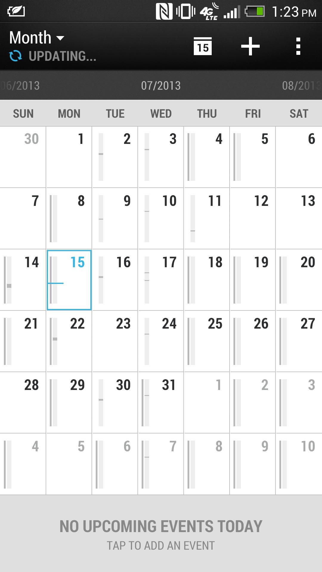 Sense 5's calendar app.
