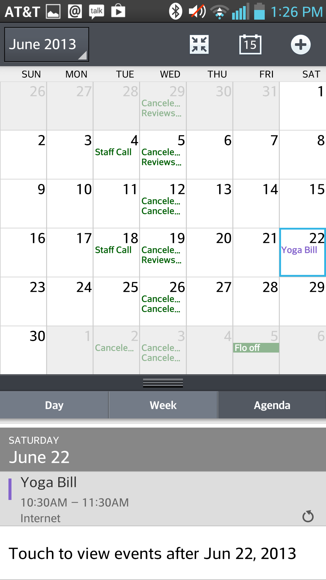 LG's calendar app.