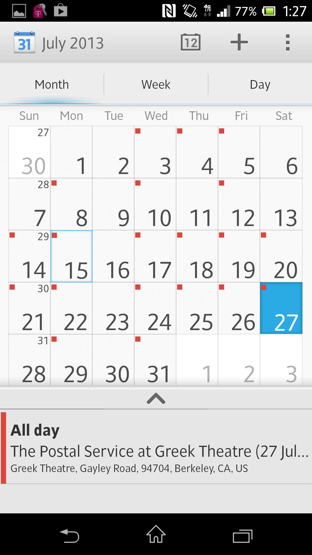 Sony's calendar app.