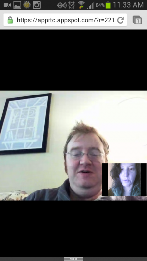 Video chat works, but I looked blue on my end.