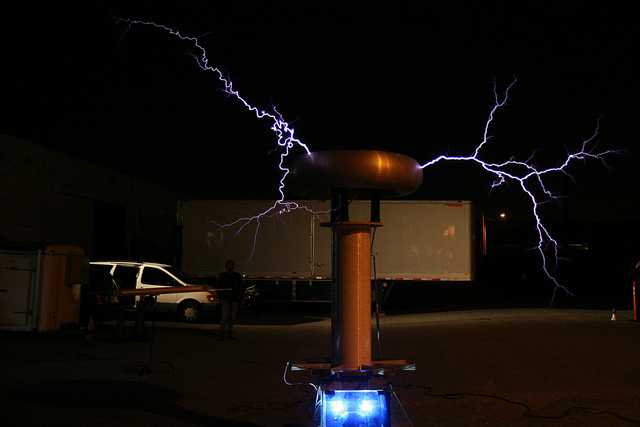 Oh look, a gigantic Tesla coil.