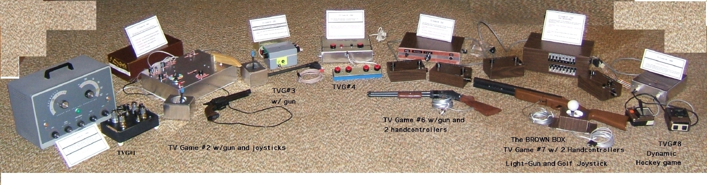 All the TV Game products Baer developed.