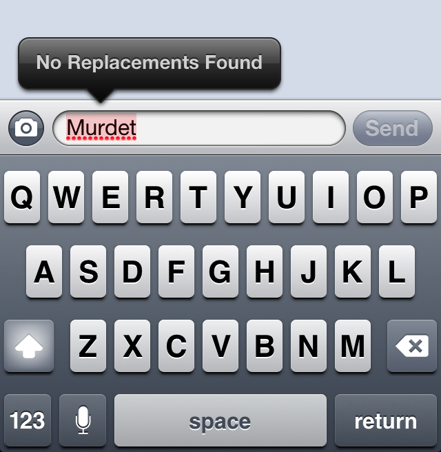 Trying to coordinate your latest murder plot? iOS won't help you type about it.