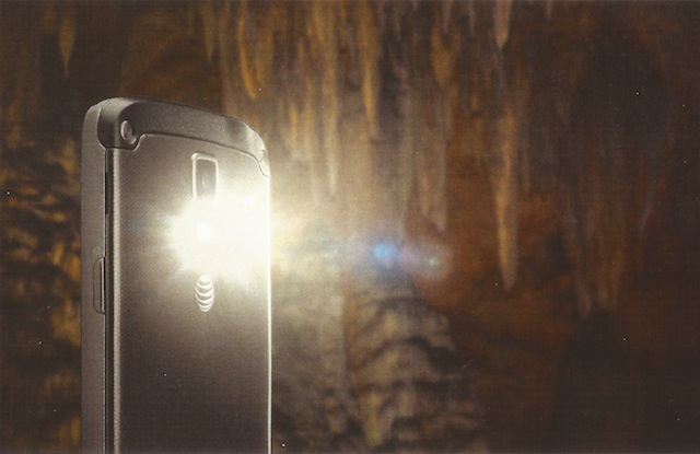 The Galaxy S 4 Active: great for exploring caves!