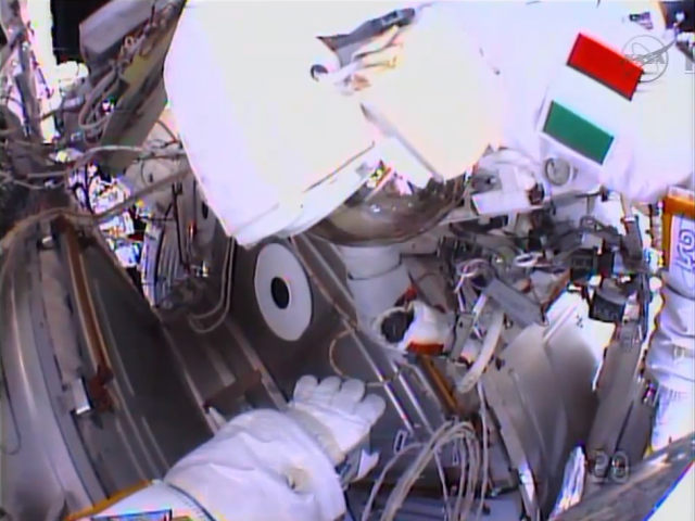 ISS spacewalk aborted when water begins to fill astronaut's suit