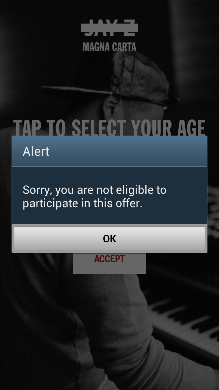 The age gate doesn't even kick you out of the app if you say you're too young.