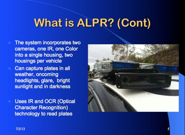 police department explains license plate readers to its own officers images frompo. Black Bedroom Furniture Sets. Home Design Ideas