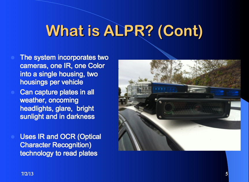 How the Oakland Police Department explains license plate readers to its own officers.