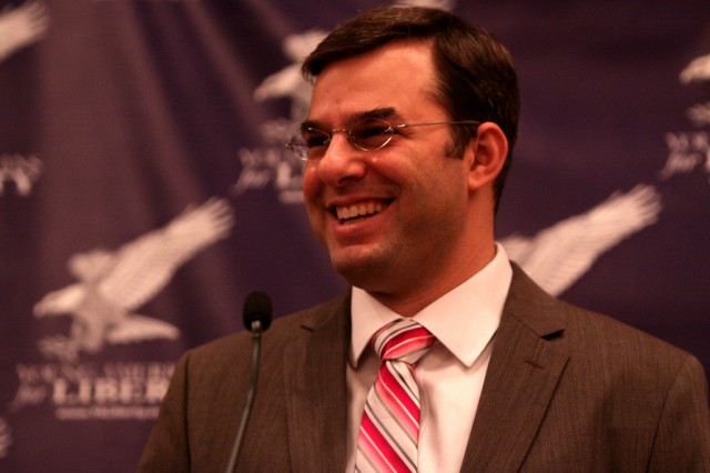 Rep. Justin Amash (R-MI) sponsored the amendment that led to today's close vote.