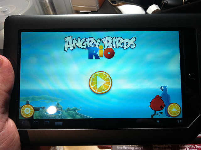 "Amazon launched its Appstore in 2011 with promoted content, including ""Angry Birds Rio."""
