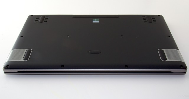The bottom of the R7, with speaker grilles visible at edges.
