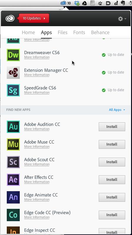Set up a queue of installs and the CC app downloads and installs them.