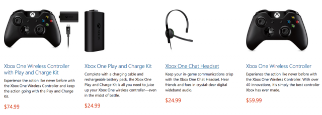 Xbox One peripherals finally get priced out.