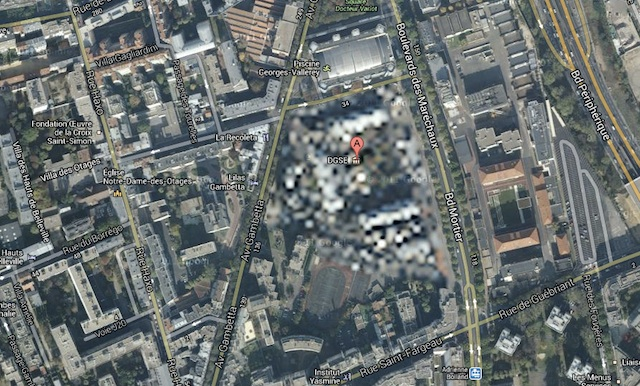DGSE headquarters, blurrily hiding near the Parisian Périphérique