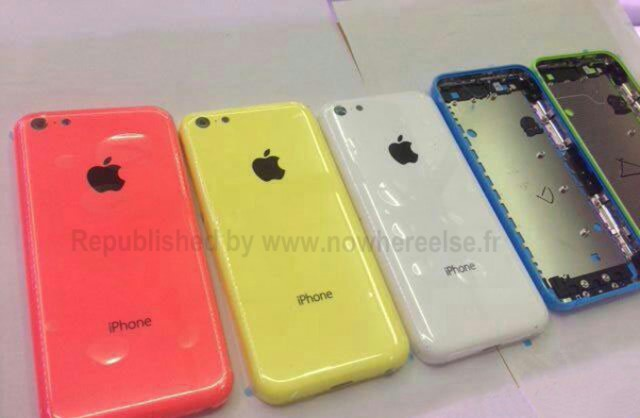 """Low-cost iPhone"" backs have been spotted in a rainbow of different colors."