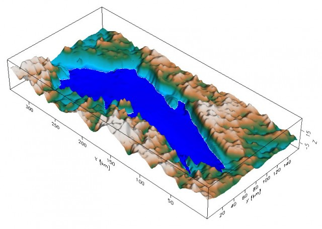 If it weren't for several kilometers of ice, this is what Lake Vostok would look like.