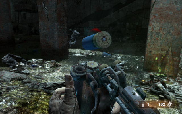 There are still a few HUD elements, like the ammo display shown here.