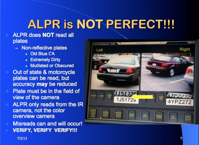 Cops are freaked out that Congress may impose license plate
