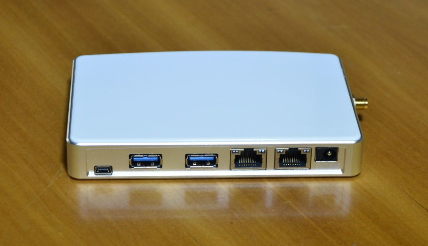 The Pwn Plug R2 sports two gigabit Ethernet ports for bridging or tapping, plus USB ports for attaching accessories like software-defined radios.