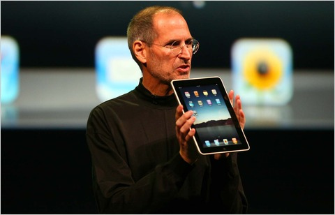 Steve Jobs introducing the iPad.