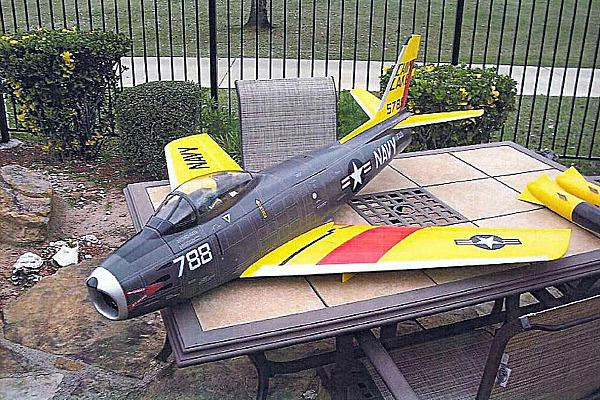 A Justice Department photo of a model aircraft seized by the FBI from Rezwan Ferdaus, who was arrested in September 2011 for allegedly plotting to fly radio-controlled planes packed with explosives into the Pentagon and the Capitol.
