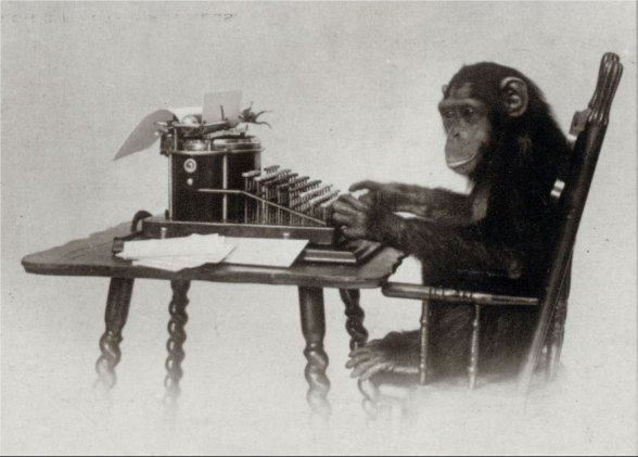 Once the monkey memorizes how to type Shakespeare, it can repeat the process more efficiently.
