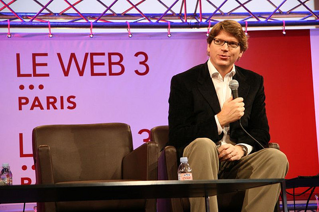 One of the founders, Niklas Zennström, speaking at a conference in 2006.