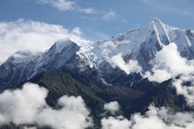 Namcha Barwa, the highest mountain along the Tsangpo Gorge.